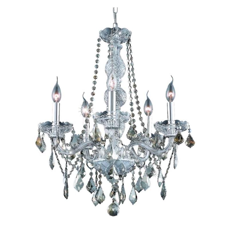 UPC 842814130456 product image for Elegant Lighting 7855D21C-GT Verona 5-Light, Single-Tier Crystal Chandelier, Fin | upcitemdb.com