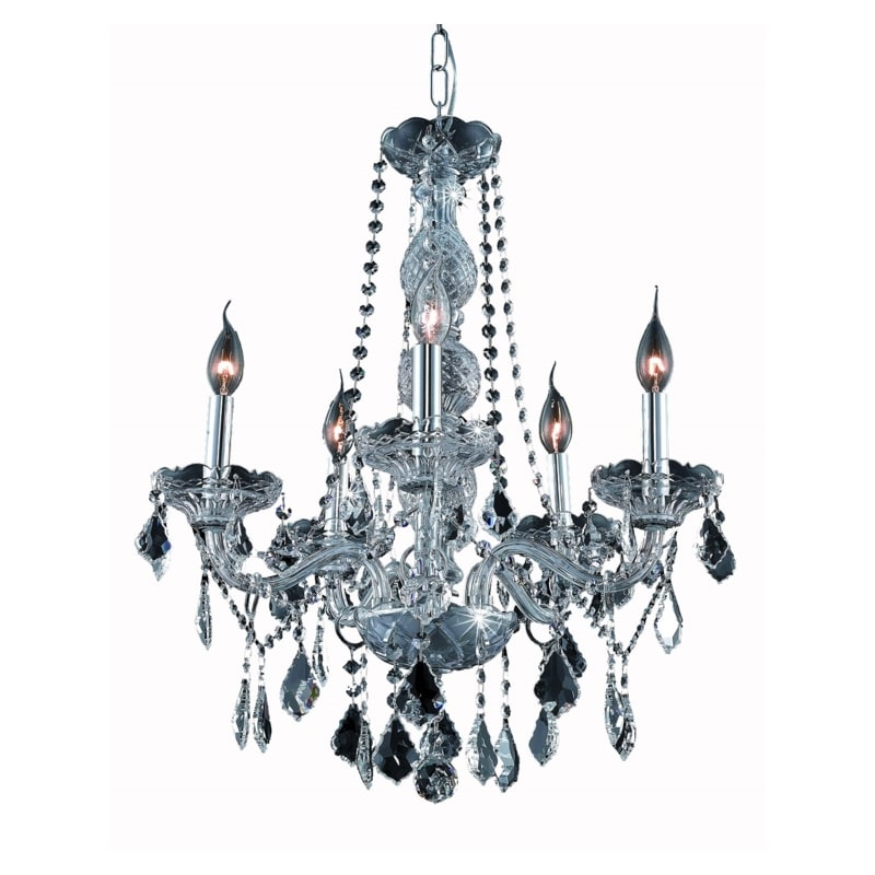 UPC 842814130494 product image for Elegant Lighting 7855D21SS-SS Verona 5-Light, Single-Tier Crystal Chandelier, Fi | upcitemdb.com