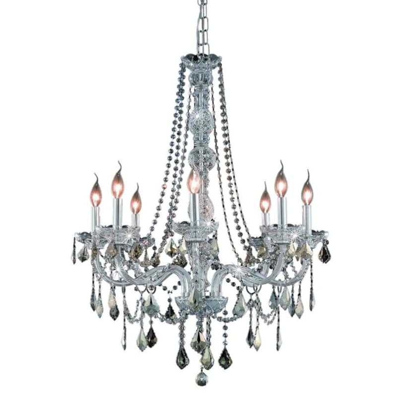 UPC 842814130562 product image for Elegant Lighting 7858D28C-GT Verona 8-Light, Single-Tier Crystal Chandelier, Fin | upcitemdb.com