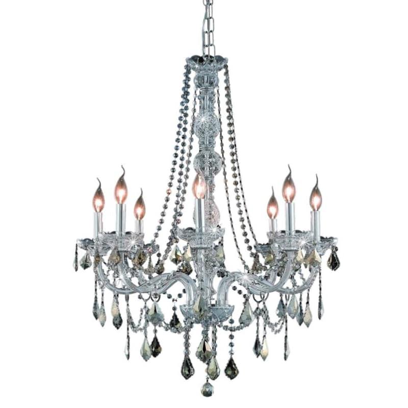 UPC 842814130579 product image for Elegant Lighting 7858D28C-GT Verona 8-Light, Single-Tier Crystal Chandelier, Fin | upcitemdb.com