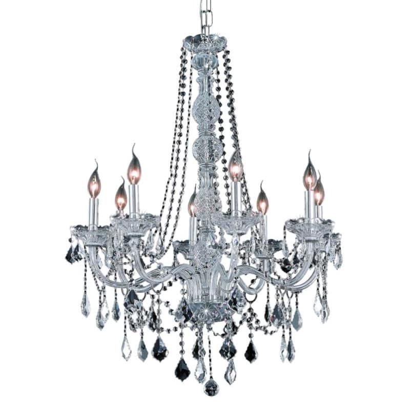 UPC 842814129399 product image for Elegant Lighting 7858D28C Verona 8-Light, Single-Tier Crystal Chandelier, Finish | upcitemdb.com