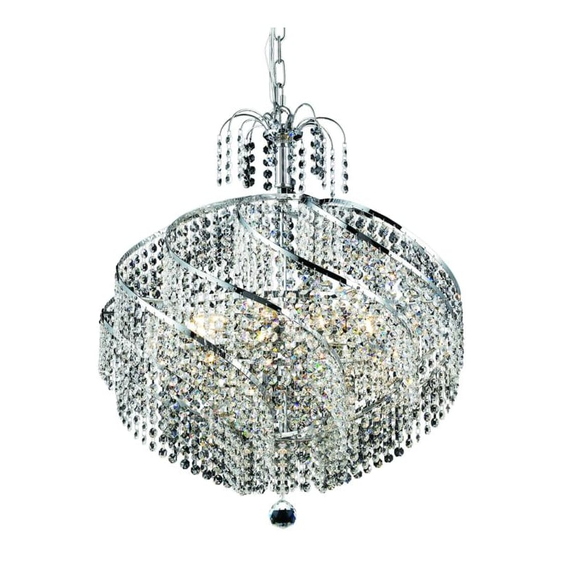 UPC 842814129733 product image for Elegant Lighting 8052D22C Spiral 10-Light, Single-Tier Crystal Chandelier, Finis | upcitemdb.com