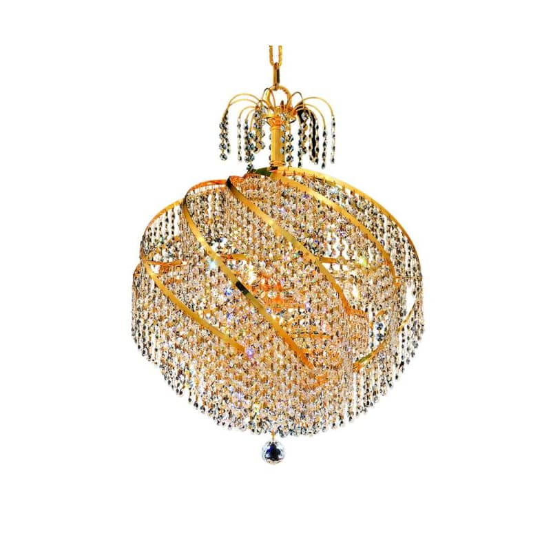UPC 842814129788 product image for Elegant Lighting 8052D22G Spiral 10-Light, Single-Tier Crystal Chandelier, Finis | upcitemdb.com