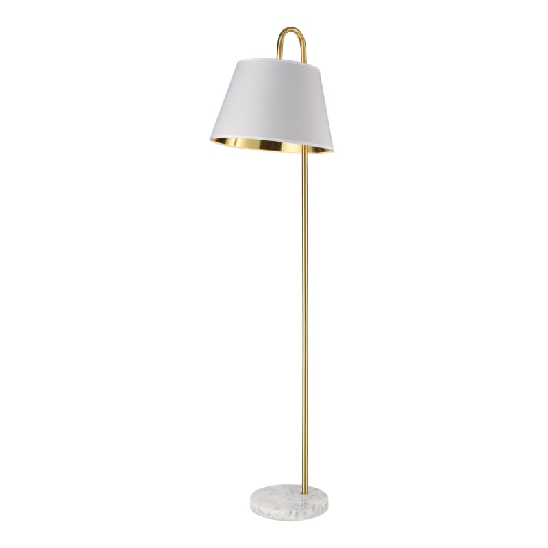 Elk Homeelk Home D4066 Vance 59 Tall Gooseneck Floor Lamp Aged Brass White Lamps Floor Lamps Dailymail