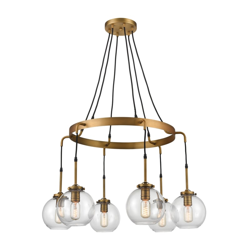 Elk Homeelk Home D4346 Mountain Creek 6 Light 33 Wide Shaded Chandelier Aged Brass Indoor Lighting Chandeliers Dailymail