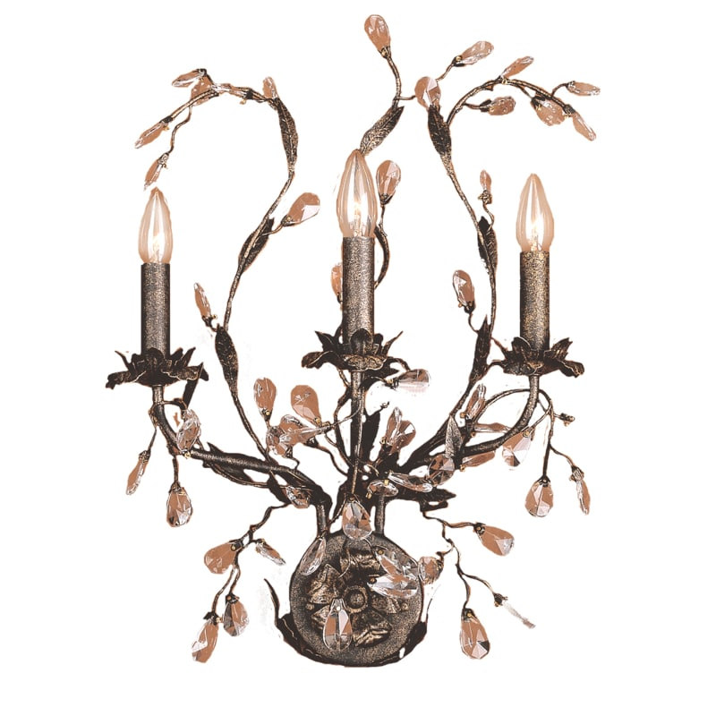 Elk Lighting Belmont: Elk Lighting 80503 Crystal Up Lighting Wall Sconce From