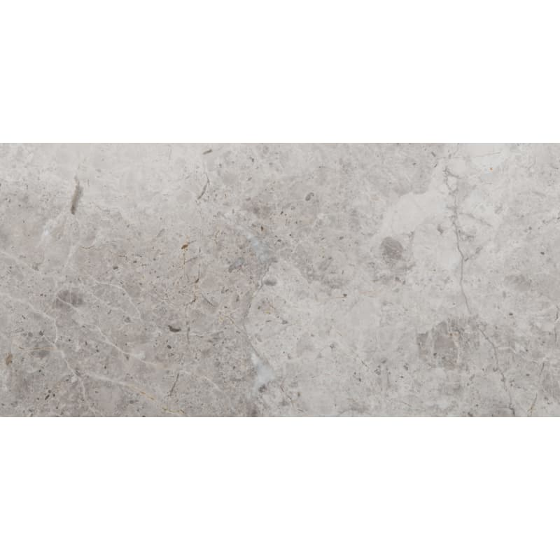 Emser Tile M06MARB1632 Marble - 16 x 32 Rectangle Floor and Wall Tile - Polished Marble Visual Silver Flooring Tile Field Tile