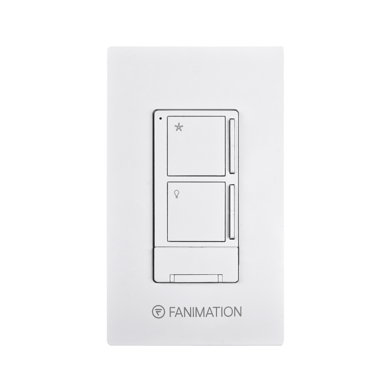Fanimation WR501 3 Speed Fan and Light Wall Control - Includes Receiver White Ceiling Fan Accessories Controls Wall Controls