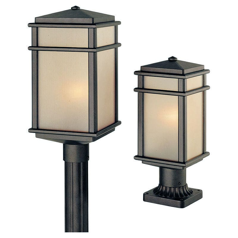 Feiss Ol3407 Lq Craftsman Mission 1 Light Post Light From