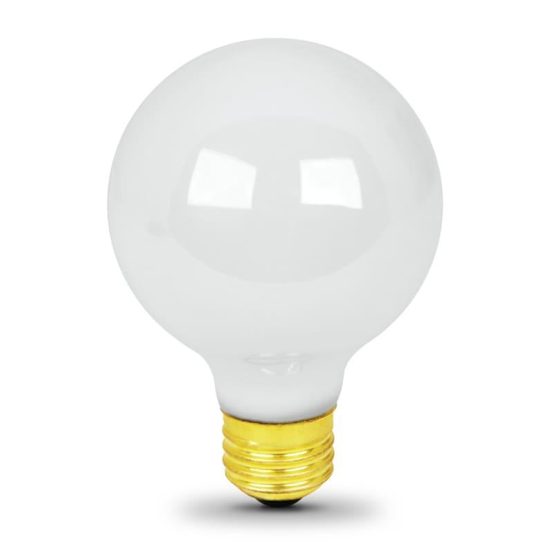 Feit 25G25/W/24 Pack of (24) 25 Watt White Dimmable G25 Medium (E26) Incandescen Bulbs Bulbs Incandescent