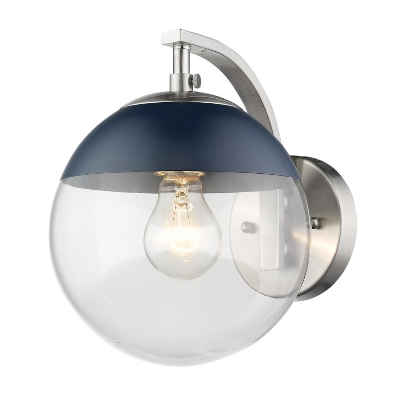 Golden Lighting 3219-1W-MNVY Dixon Single Light 10