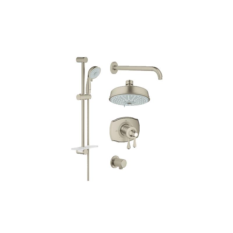 ean 4005176986185 grohe 35054en0 brushed nickel grohflex grohflex thermostatic shower. Black Bedroom Furniture Sets. Home Design Ideas