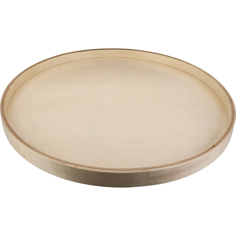24 Inch Round Shape Banded Lazy Susan with Preinstalled Swivel Poplar Storage and Organization Cabinet and Kitchen - Hardware Resources BLSR24-S