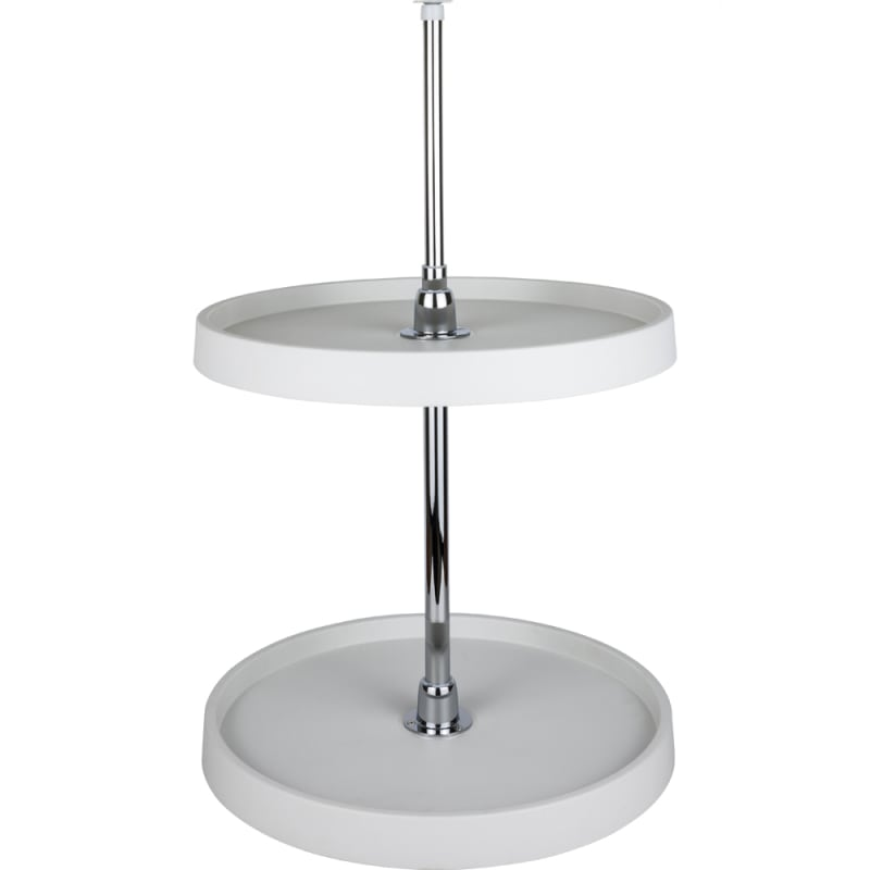 24 Inch Full Circle Lazy Susan Two Shelf Set with Metal Hubs White Storage and Organization Cabinet and Kitchen Organizers - Hardware Resources PLSMR24