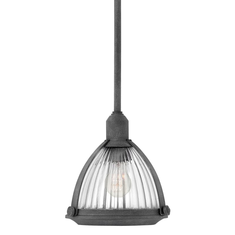 "Hinkley Lighting 3097 Elroy Single Light 10"""" Wide Pendant with Holophane Glass S -  3097DZ"