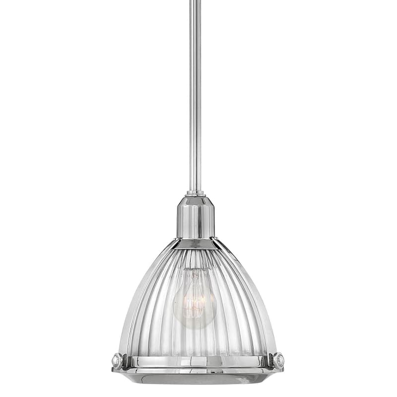 "Hinkley Lighting 3097 Elroy Single Light 10"""" Wide Pendant with Holophane Glass S -  3097PN"