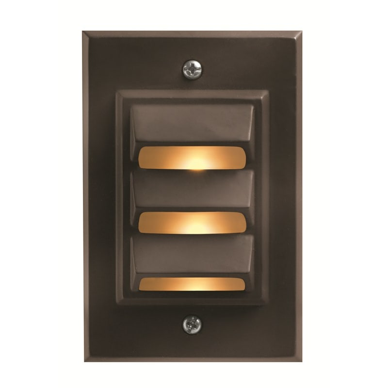 Elco Lighting ELST54B CFL Brick Light with Angled Louver Faceplate w//o Lens