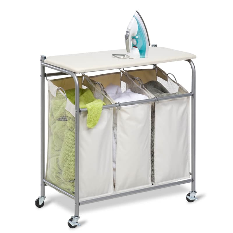Honey-Can-Do SRT-01196 Ironing and Sorter Combination Laundry Center