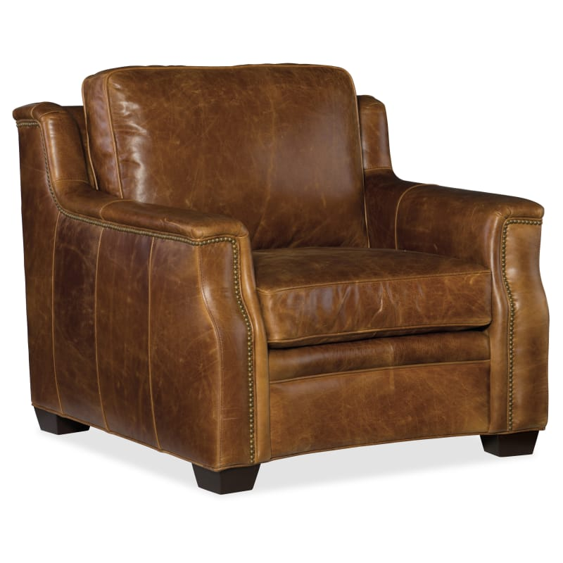 Phenomenal Hooker Furniture Ss519 01 087 Yates 39 12 Wide Leather Bralicious Painted Fabric Chair Ideas Braliciousco