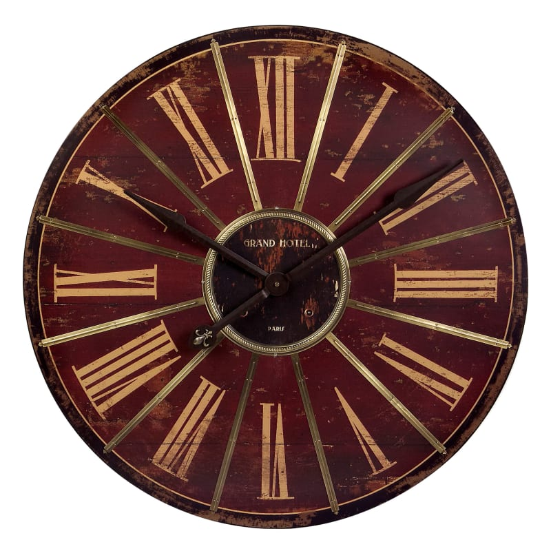 Tremendous Imax Home 16077 2925 Large Red Wall Clock Ibusinesslaw Wood Chair Design Ideas Ibusinesslaworg