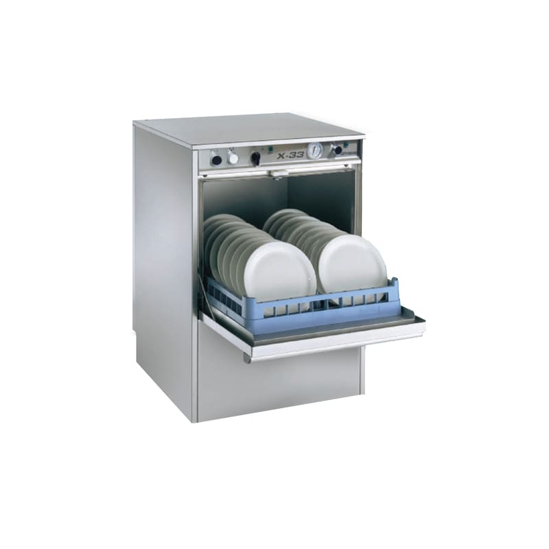 Jet-Tech X-33 Low Temperature Commercial Undercounter Dishwasher, Stainless Steel