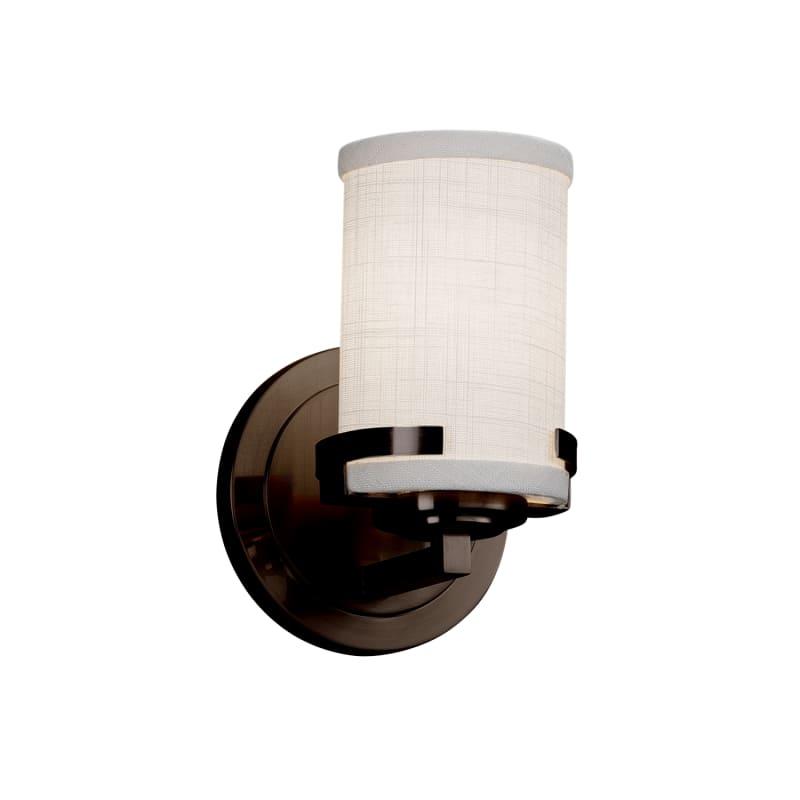 Justice Design Group FAB-8451-10-WHTE-LED1-700 Textile Single Light
