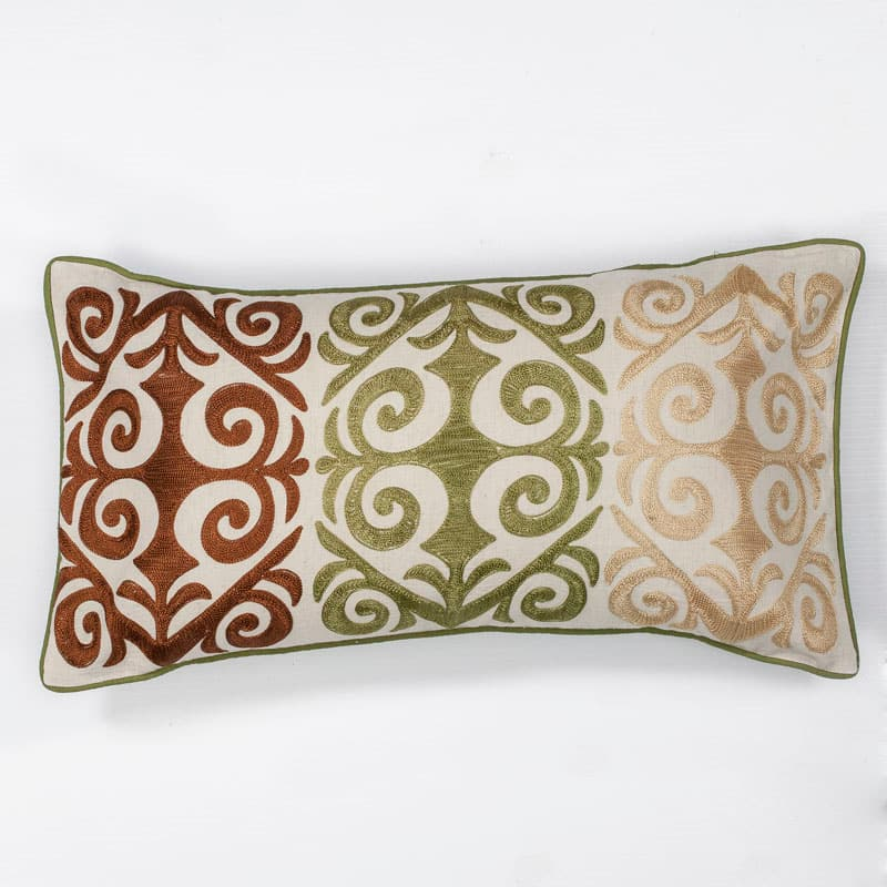 Kas Rugs Pillow 171 Multicolor Damask