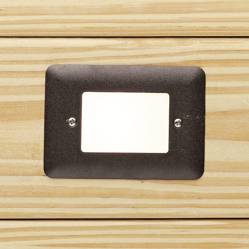 "Kichler 15780 30 5"" Led Mini Step Light With White Acrylic Lens 3000k"