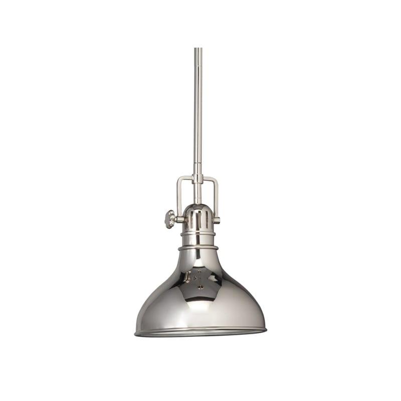"Kichler 2664 Hatteras Bay Single Light 8"" Wide Mini Pendant With Metal Shade"