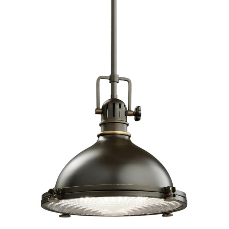 """Kichler 2665 Hatteras Bay Single Light 12"""" Wide Pendant With Metal Shade And Fre"""