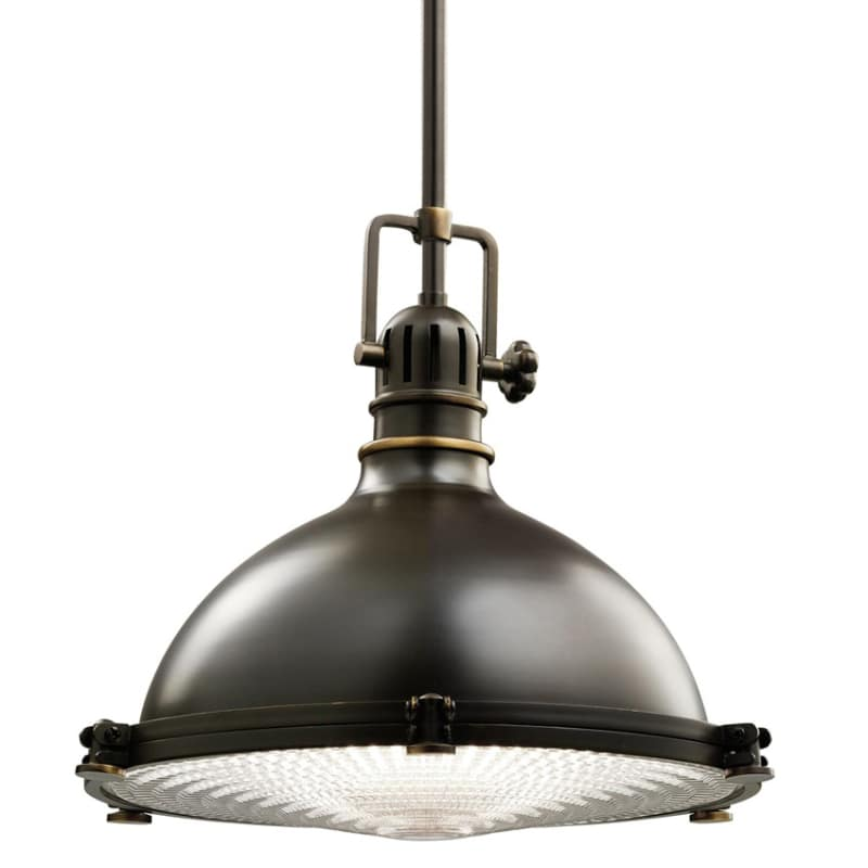 """Kichler 2666 Hatteras Bay Single Light 13"""" Wide Pendant With Metal Shade And Fre"""