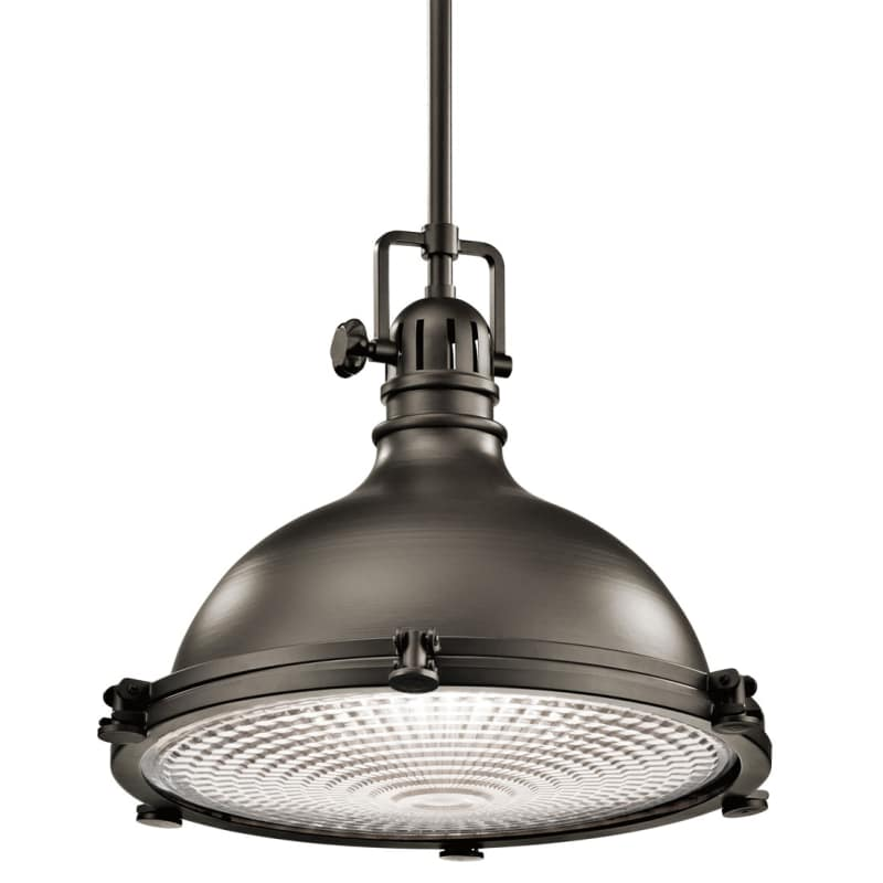 """Kichler 2682 Hatteras Bay Pendant Light With Metal Shade 18"""" Wide"""