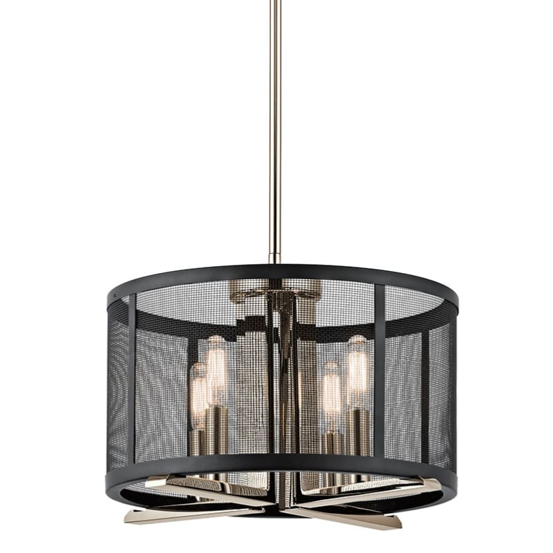 """Kichler 43713 Titus 4 Light 14.25"""" Wide Pendant With Metal Shade"""