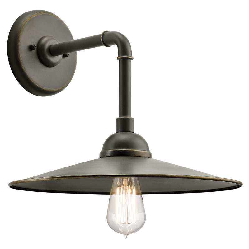 """Kichler 49586 Westington 1 Light 14"""" Wide Wall Sconce With Metal Shade"""