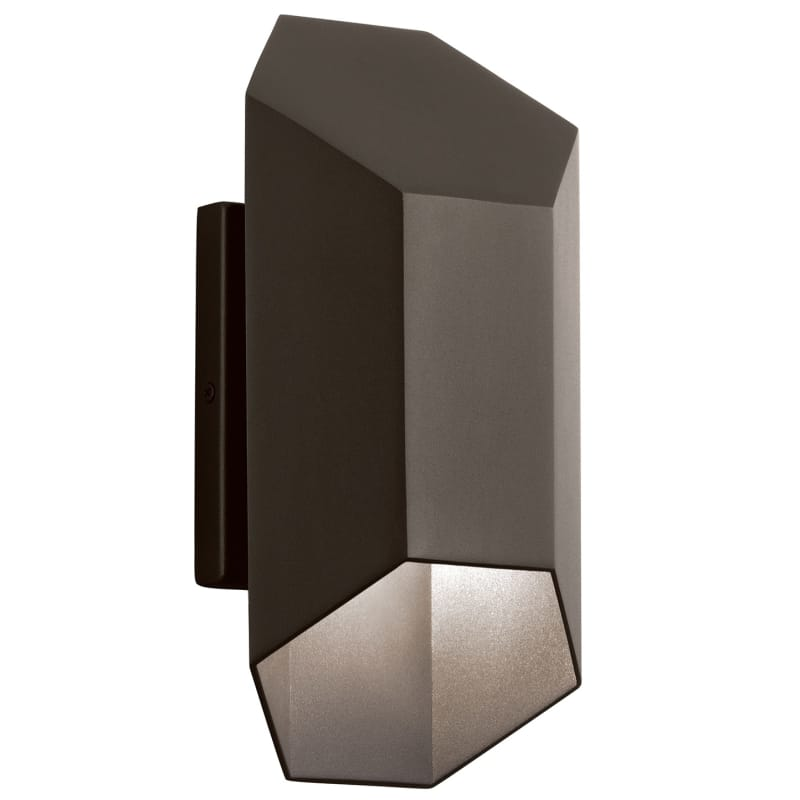 """Kichler 49607led Estella 1 Light 6"""" Wide Led Wall Sconce With Metal Shade"""