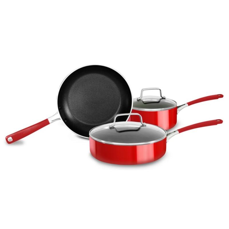Kitchenaid Kc2as05b Aluminum Nonstick 5 Piece Cookware Set