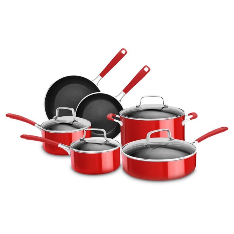 Kitchenaid Kc2as10 Aluminum Nonstick 10 Piece Cookware Set