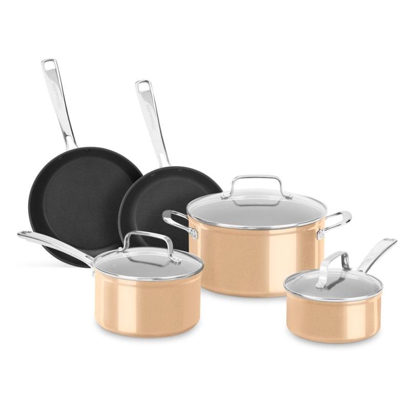 Kitchenaid Kc3h1s08 Anodized Nonstick 8 Piece Cookware Set