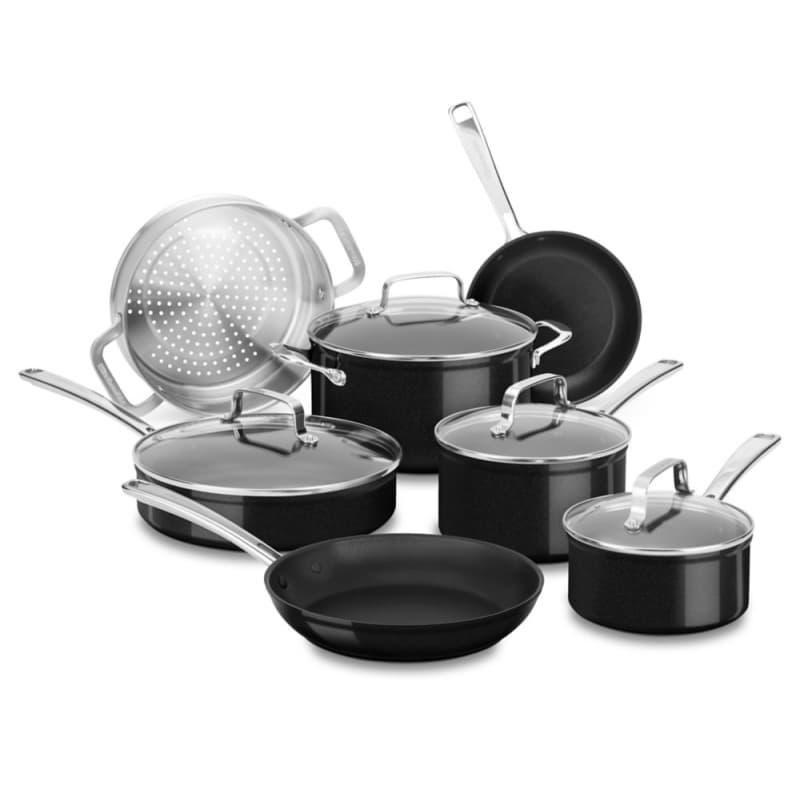 Kitchenaid Kc3h1s11 Anodized Nonstick 11 Piece Cookware Set
