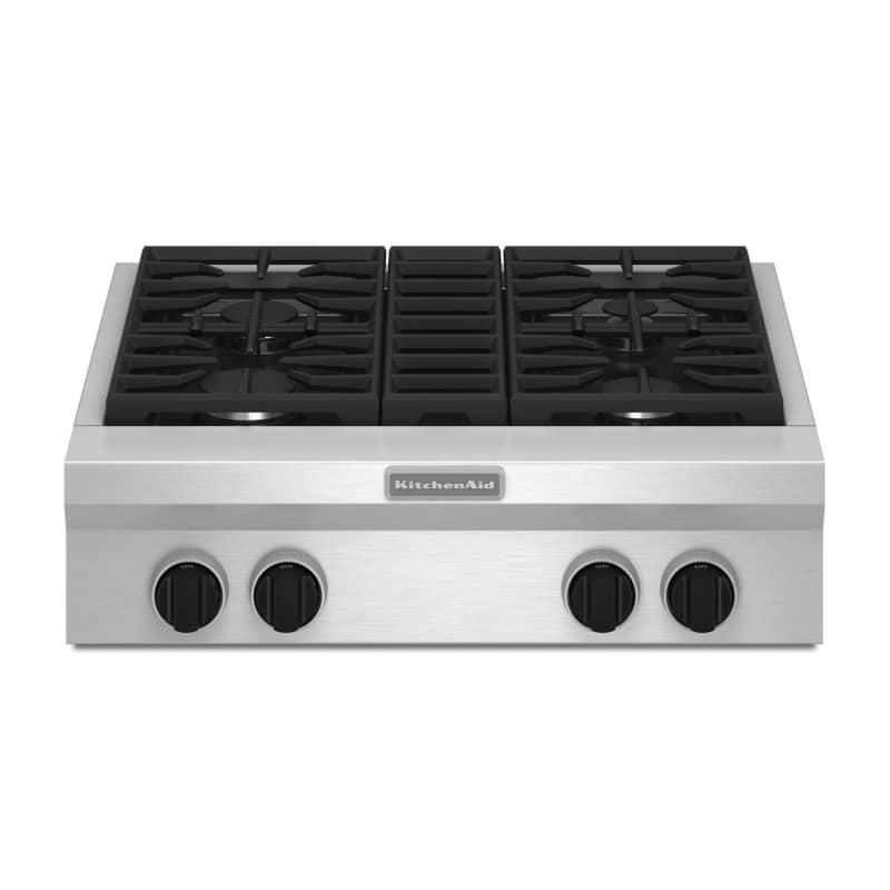 Kitchenaid Kgcu407v 30 Inch Wide Commercial Style Gas Rangetop With