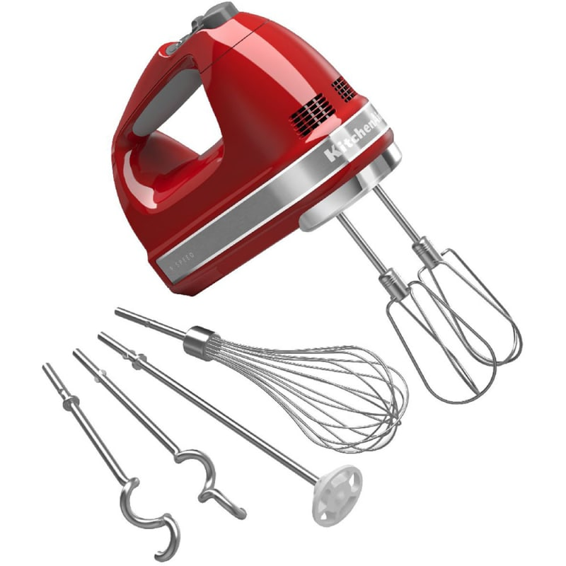 KitchenAid KHM926 9 Speed Hand Mixer with Turbo Beater II Accessories Empire Red Food Processing Appliances Mixers Hand Mixers -  KHM926ER