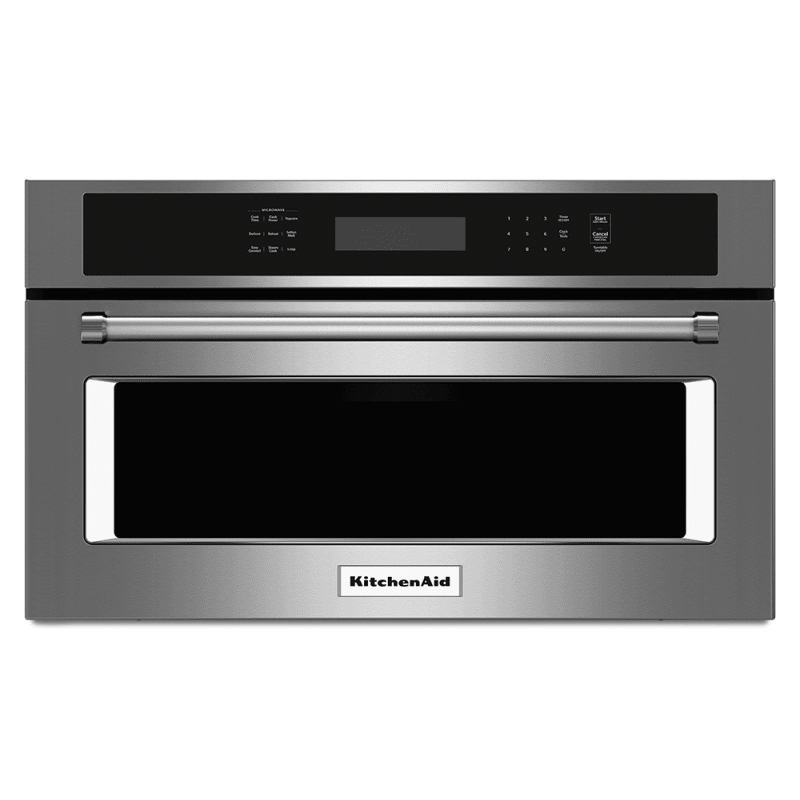 KitchenAid KMBP100E 30 Inch Wide 1.4 Cu. Ft. Built-In Microwave with Convection Cooking and Crispwave Technology Stainless Steel Microwave Ovens