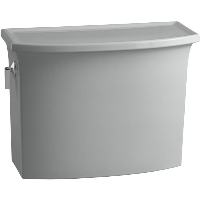 Kohler K-4431 Archer 1.28 GPF Toilet Tank Only with AquaPiston Technology Ice Grey Fixture Toilet Tank Only
