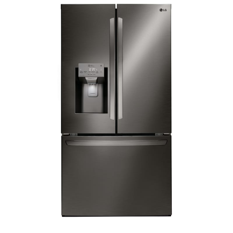 LG LFXC22526D 36 Inch Wide 22.1 Cu. Ft. Energy Star Rated French Door Refrigerator, Black Stainless Steel