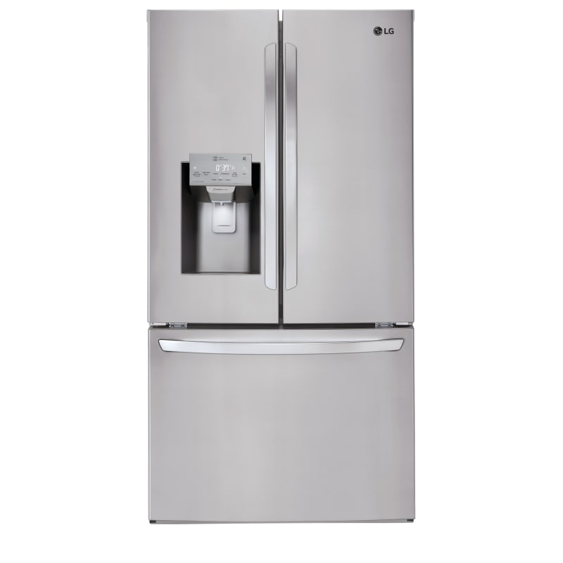 LG LFXC22526S 36 Inch Wide 22.1 Cu. Ft. Energy Star Rated French Door Refrigerator, Stainless Steel