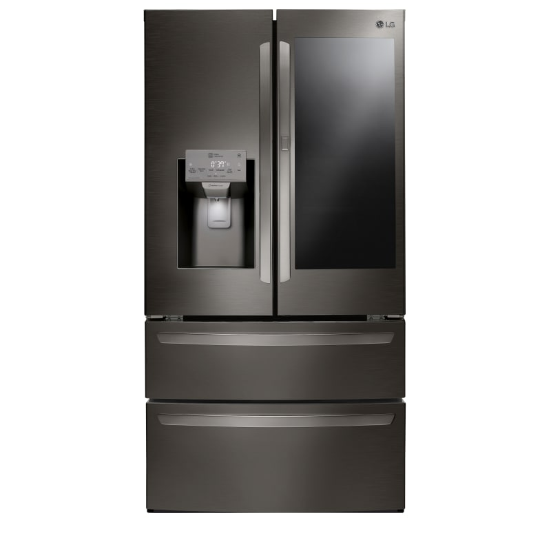 LG LMXS28596D 36 Inch Wide 27.6 Cu. Ft. Energy Star Rated French Door Refrigerator, Black Stainless Steel