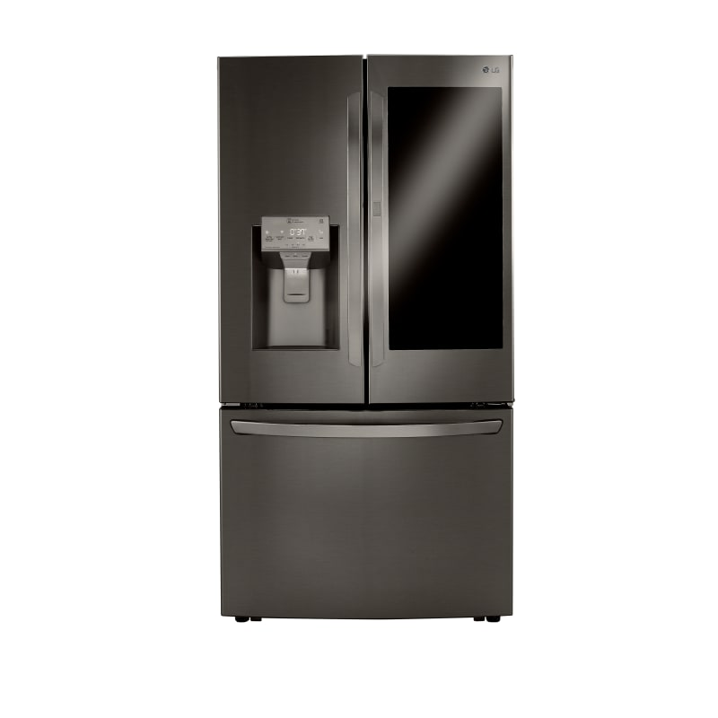 LG LRFVC2406D 36 Inch Wide 23.5 Cu. Ft. Energy Star Rated French Door Refrigerator with InstaView, Black Stainless Steel