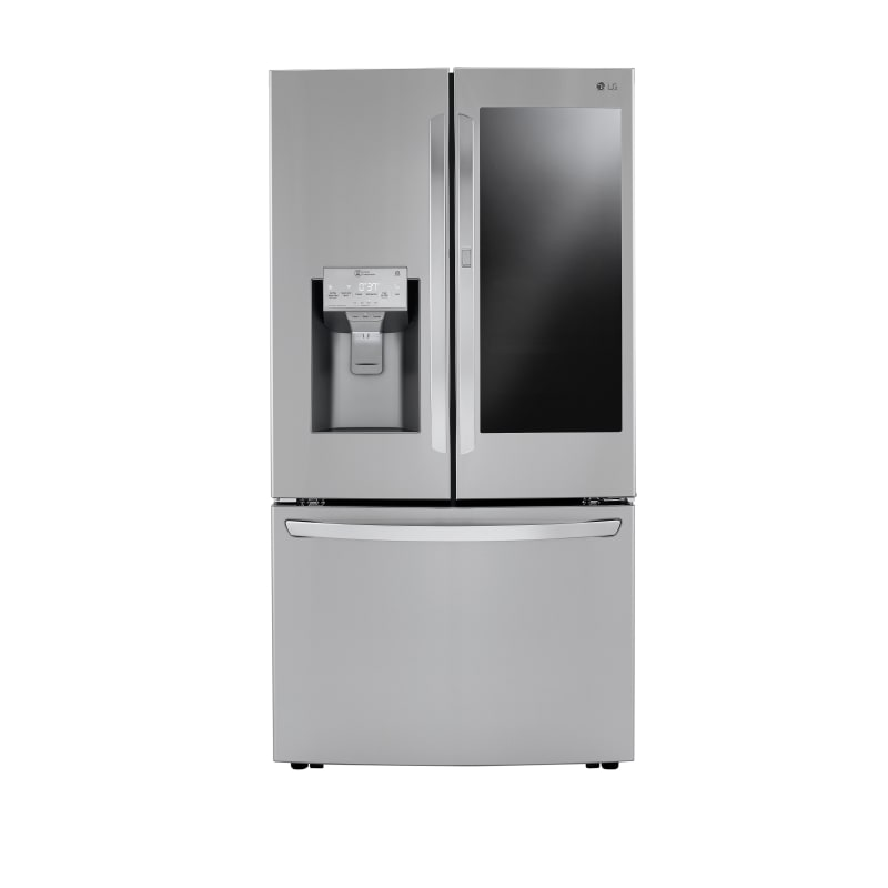 LG LRFVC2406S 36 Inch Wide 23.5 Cu. Ft. Energy Star Rated French Door Refrigerator with InstaView Stainless Steel