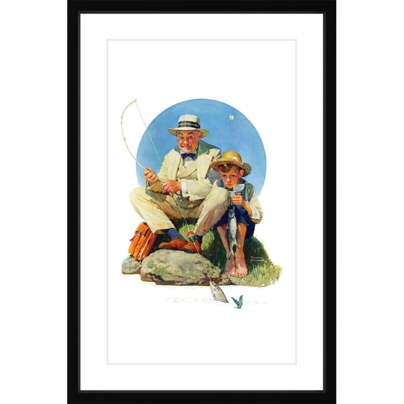 Marmont Hill Catching The Big One Framed Print Norman