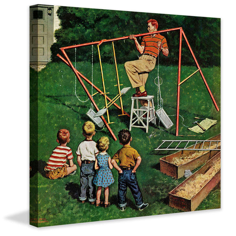 Marmont Hill Swing-set Amos Sewell Painting Print
